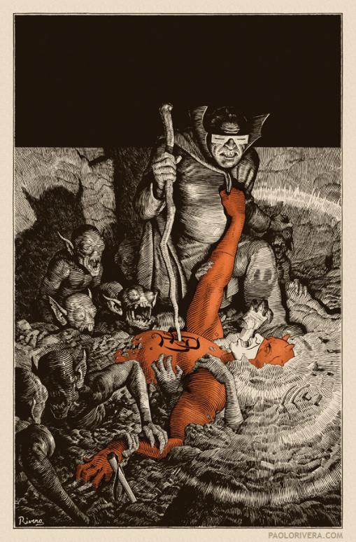 Daredevil 10 - cover by Rivera