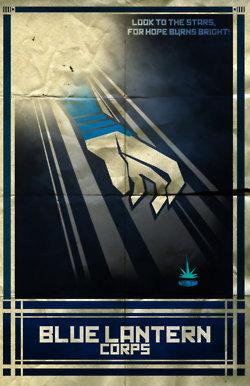 lanternas azuis