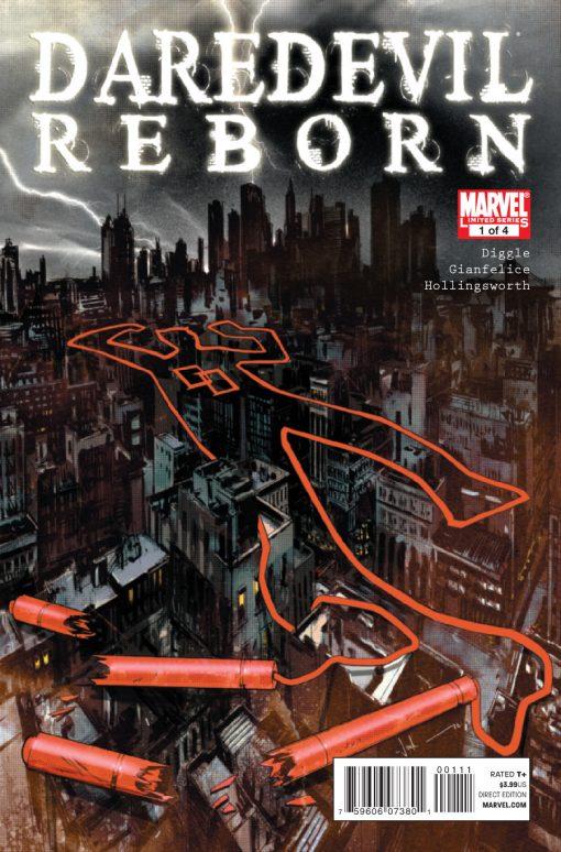 Daredevil Reborn #1, by Jock