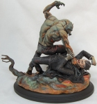 Dracula Meets the Wolfman Statue